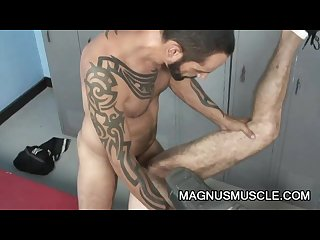 Christian volt and tom colt hairy mature men locker room sex