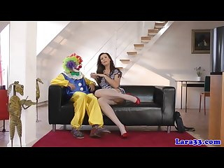 British glam mature cocksucking lucky clown