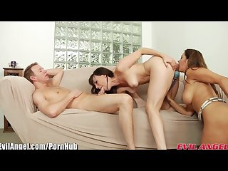 Evilangel francesca le and dana dearmond threesome