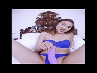Vr stereoscopic 180 hot asian super excited playing with herself in vr