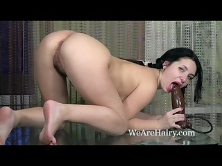 Tanita gets nude and masturbates on her table