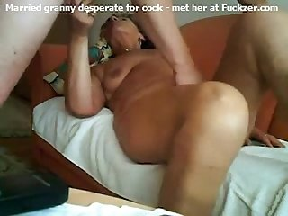 Married granny loves the secret cock