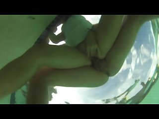 Hot underwater pool sex real amateur South african couple