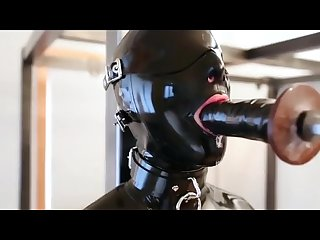 Latex blowjob training