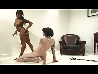 Black mistress white slave