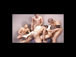Slut boy jeff palmer gets facefucked and bred by four hung black guys