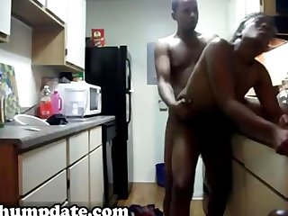 Black girlfriend gets fucked doggystyle