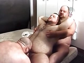 Three fat boys get it on
