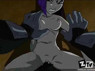 Teen titans hentai parody sladed