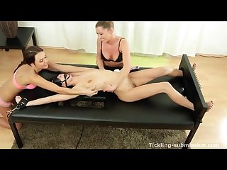 Sexy lesbian Tickling torture