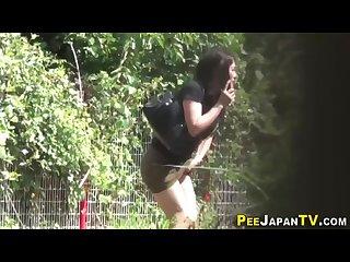 japanese girl urgently needs to pee