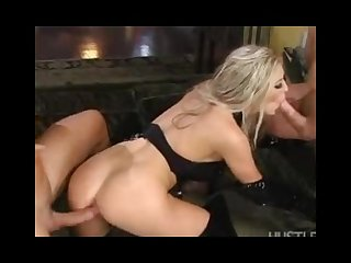 Michelle b double teamed in a fetish threesome