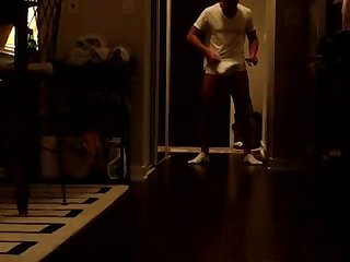 Straight bulge show off for the Delivery man 02