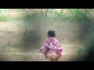 Desi Aunty hidden piss