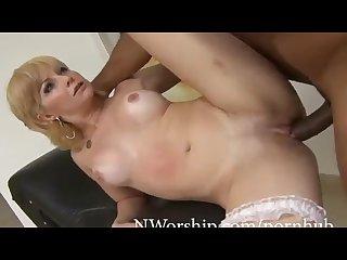 Slutty Blonde Milf Sucking and Fucking Anal with BBC
