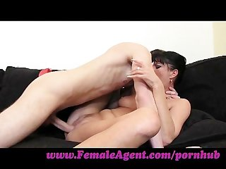 Femaleagent stud has anaconda cock