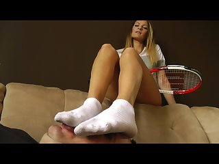 Felicia S after tennis feet www c4s com 8983 13715775