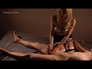 Young hot blonde loves to do massage with happy ending amateur 4k