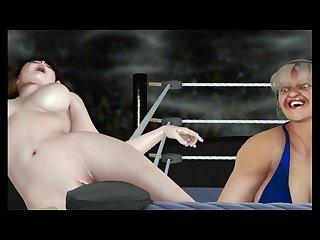 3d Anime lesbian Wrestling 1
