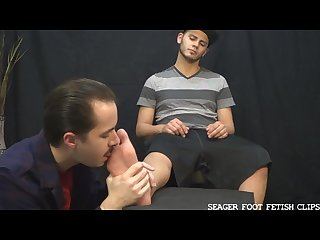 Latino dude alex gets his feet worshipped Tickled and cums preview