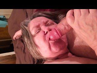 Bbw granny blow job