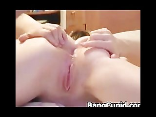 Babe gets her ass rammed and pussy fisted