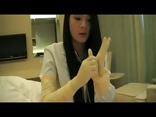 Asian Glove nurse play tease