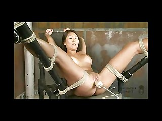Beti hana tied and machine fucked