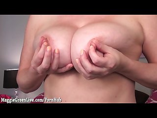 All natural blonde maggie green test out new dildo