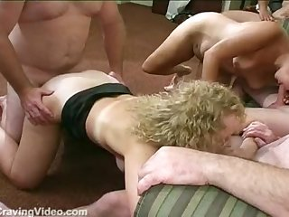 Cum sluts cathy and oasis in a wild hotel gangbang