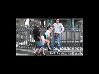 Daring public teen threesome awesome