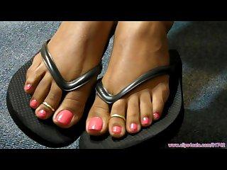 Ebony flip flops