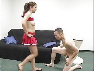 Brutal femdom ball busting scene 1