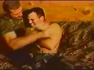 Vintage soldier tickled