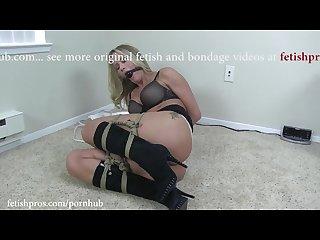 Simone sonay rope bondage frogtied orgasm challenge