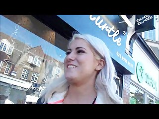 Blonde amateur babe lissas public flashing and homemade voyeur footage