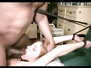 Amateur milf gets tied up and fucked in her ass by a bbc!