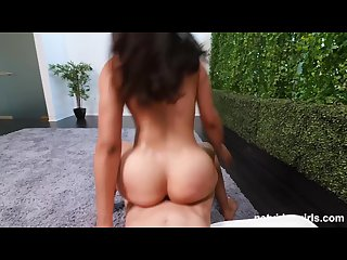 Bubble butt exotic coed gets horny and has sex during her audition