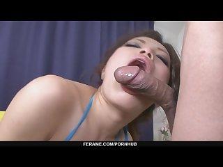 Asian babe yurika gotou humming on a guy s flesh flute