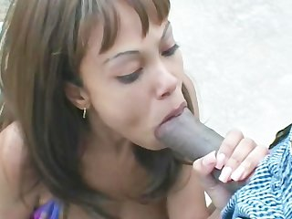 Lacey duvalle gets and outdoor facial