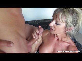Mature 50 year old hot mom suck a big cock marina beaulieu french milf