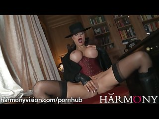 Jasmine jae masturbates and gets pounded