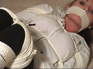 Tied up in socks and lot of rope