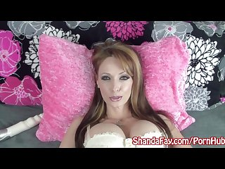 Canadian milf shanda fay gets kinky in her bed