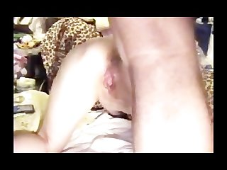 Big black cock stretches asian holes makes her squirt