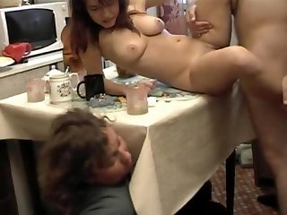 Amateur wife very drunk affair front husband