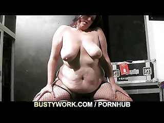 Bored bbw jumps on his horny dick