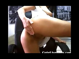 Brunette secretary masturbating and fingering real hard wmv