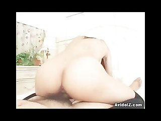 Busty japanese schoolgirl gets her shaved pussy banged at home