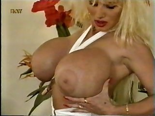 Retro busty goddess lisa strips